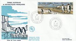 Terres Australes Et Antarctiques Françaises    1992   Terre Adélie - FDC