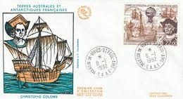 Terres Australes Et Antarctiques Françaises    1992   Christophe Colomb - FDC