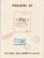 Terres Australes Et Antarctiques Françaises   1984 Philapol Villiers Sur Marne - Blocks & Sheetlets