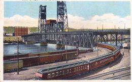 UNITED STATES OF AMERICA : VINTAGE UNUSED COLOUR PICTURE POST CARD : STEEL BRIDGE, PORTLAND - Portland