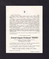 GENTBRUGGE HEVERLEE Armand THIERY Professeur Université Catholique De Louvain 1868-1955 DUQUESNE La Salette - Overlijden