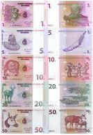 CONGO D.R. Set (5v) 1 5 10 20 50 Centimes  1997 P 80 81 82 83 84A UNC - Congo