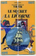 Tintin, Le Secret De La Licorne, $5, LDPC, 4 Prepaid Calling Cards, PROBABLY FAKE, # Tintin-1 - Puzzles