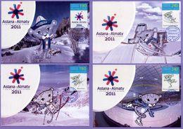 Kazakhstan 2010. Maxicard. 7th Asian Winter Games 2011. Maximum Cards. - Kazakhstan
