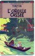 Tintin, L'Oreille Cassée, $5, Canada, 4 Prepaid Calling Cards, PROBABLY FAKE, # Tintin-4 - Puzzles