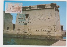 Temple De Philae Carte Postale 1er Jour - Egypt