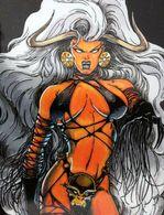Fantaisie Erotique BD COMICS Erotic Fantasy  LADY DEATH Sexe Diable Demon  Lingerie Cuir Underwear Leather - Trading Cards
