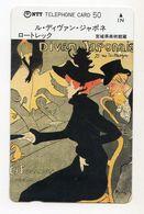 JAPON TELECARTE PEINTURE De HENRI DE TOULOUSE LAUTREC Le Divan Japonais - Malerei