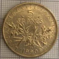 5 Francs , République Française, 1990, TB - France