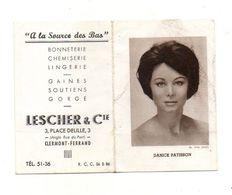 """Petit Calendrier 1962 """"A La Source Des Bas"""" Lescher & Cie Clermont-Ferrand Et Photo De Danick Patisson - Format :12x9 Cm - Calendriers"""