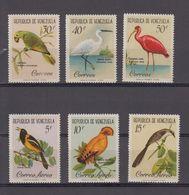 REPUBLICA DE VENEZUELA 1961 6 STAMPS MNH 3x Correo Aero - Luchtpost - Venezuela