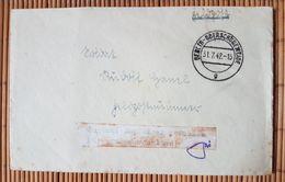 """Feldpostbrief Mit Inhalt Und Vermerk """"Empfänger Gefallen Für Grossdeutschland """" 31.7.42 - Briefe U. Dokumente"""