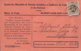Jolimont Haine St-Paul Société Des Mutualités De Retraite Socialistes 1932 (9 X 14cm) - La Louvière