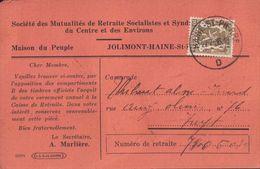 Jolimont Haine St-Paul Société Des Mutualités De Retraite Socialistes 1936 (9 X 14cm) - La Louvière