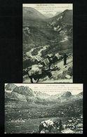 ANDORRA ANDORRE  Lot De 2 Cartes Reproduction LABOUCHE 1001 & 1002 Muletiers à Font Negre  Edit. Numérotée   SUP. - Andorra