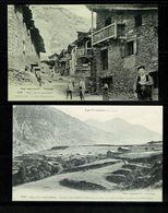 ANDORRA ANDORRE  Lot De 2 Cartes Reproduction LABOUCHE 1012 Canillo Rue Principale 1013 Prats  Edit. Numérotée   SUP. - Andorra