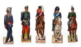 Lot De Découis Cartonnés, Militaire, Soldats, Schuler Waschpulver, Suisse, Hauteur Env. 8,5 Cm, Set 3 - Découpis
