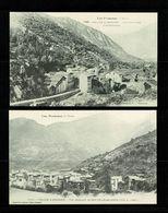 ANDORRA ANDORRE  Lot De 2 Cartes Reproduction LABOUCHE 1025 Escaldas & 1049 St Julia  Edit. Numérotée   SUP. - Andorra