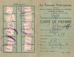Carte De Membre Fayt-lez-Manage 1955 - 1957 La Femme Prévoyante - La Louvière