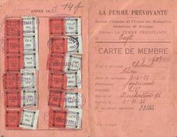 Carte De Membre Fayt-lez-Manage 1949 - 1951 La Femme Prévoyante - La Louvière