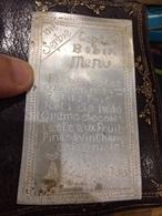Menu Grave Sur Plaque Aluminium Front Serbe, Départ Capitaine - 1914-18