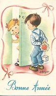 Carte Mignonnette - Bonne Année  Enfant Illustrateur - Año Nuevo