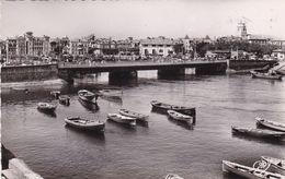 64. SAINT JEAN DE LUZ. RARETE. LE PONT RELIANT ST JEAN DE LUZ A CIBOURE. ANNEE 1954 + TEXTE - Saint Jean De Luz