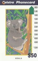 "Australia, N966015a, Koala - 1996 Telstra, (New Logo - ""Non Refundable""), 2 Scans. - Australie"