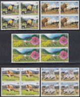 INDIA 2020 UNESCO World Heritage Sites In INDIA (II), Natural Sites, Fauna/ Flora, SET 5v Complete BLOCKS OF 4,  MNH(**) - India