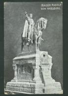 Kaiser (emperor) RUDOLF VON HABSBURG Statue, 1907, WIEN (VIENNA) Stamp VF USED POSTCARD  AUSTRIA No.688 - Vienne