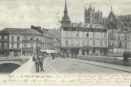 Huy  Le Pont Et Rue Du Pont - Hoei