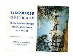 Petit Calendrier 1967 Librairie Queyriaux Clermont-Ferrand Avec Photo Avignon Le Pont Saint-Bénézet - Format :12x9 Cm - Calendriers