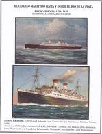 """""""CONTE GRANDE"""". COMPANIA LLOYD SABAUDO LINE. NAVE BARCO BATEAU BOAT. LOTE CPA CIRCA 1927's -LILHU - Embarcaciones"""