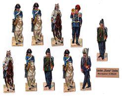 Lot De Découis Cartonnés, Militaire, Soldats De L' Allemagne, Schuler Waschpulver, Suisse Hauteur Env. 8,5 Cm, Set 4 - Découpis