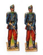 Lot De Découis Cartonnés, Militaire, Soldats De L' Espa, Schuler Waschpulver, Suisse Hauteur Env. 8,5 Cm, Set 5 - Découpis