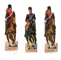 Lot De Découis Cartonnés, Militaire, Soldats Du Turquie, Schuler Waschpulver, Suisse Hauteur Env. 8,5 Cm, Set 6 - Découpis