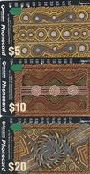 Australia, N930212 - N930234a, Set Of 3 Cards, Indigenous People, 2 Scans. - Australie