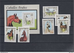 Sahara RSAD Michel Cat.No. Mnh/** Issued 1997  Set + Sheet Horses - Stamps