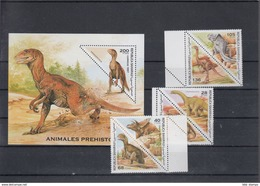 Sahara RSAD Michel Cat.No. Mnh/** Issued 1997 Set + Sheet Dinos - Stamps