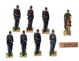 Lot De Découis Cartonnés, Militaire, Soldats De La Suisse, Schuler Waschpulver, Suisse Hauteur Env. 8,5 Cm, Set 7 - Découpis