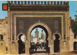 Carte Postale. Maroc. Fès. Bab Boujeloud. Porte. Mosquées. Animation. Etat Moyen. - Monumentos