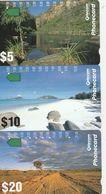 Australia, N930412 - N930434a, Set Of 3 Cards, Landscape 1993, 2 Scans. - Australie