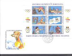 1992.  Olympic Games Barcelona'1992,  FDC,  Mint/** - Summer 1992: Barcelona