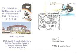 2010 Championnat Du Monde De Hockey Sur Glace En Allemagne .IIHF Patronne La Foire Des Collectionneurs Olympiques - Hockey (sur Glace)