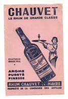 Buvard Chauvet Le Rhum De Grande Classe Le Havrearôme Pureté Finesse- Format : 24.5x16cm - Carte Assorbenti