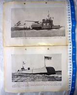 British UK Navy Submarines M2 M3 Vintage Picture Photo SET OF 2 #14 - Militaria