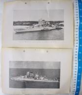 USA United States Navy USS Missisipi Warship Vintage Picture Photo SET OF 2 #14 - Militari