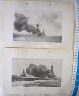 USA United States Navy USS Missisipi  USS Maryland Warship Vintage Picture Photo SET OF 2 #14 - Militaria