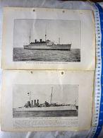 UK Great Britain British Navy HMS London HMS Medway Warship Vintage Picture Photo SET OF 2 #14 - Militaria