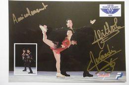Célébrités Sportifs Sarah ABITOL Et Stéphane BERNADIS Champions De France De Patinage Artistique Couples - Autographes - Sportsmen